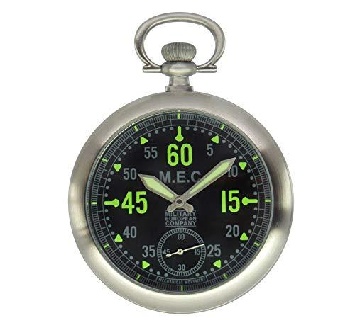 Taschenuhr mit mechanischem Uhrwerk mit manueller Aufziehung.