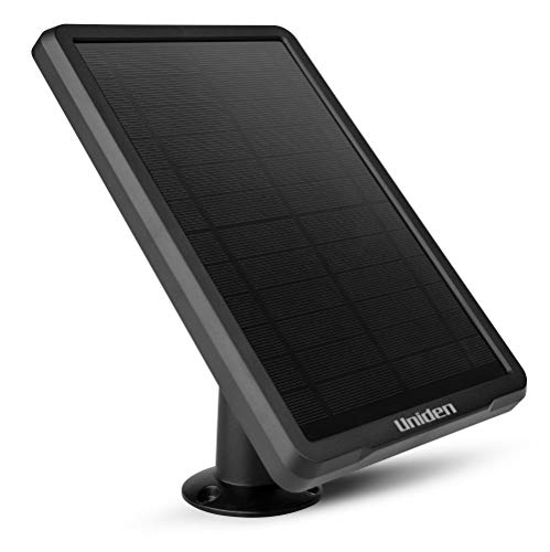 Uniden Solo Color Solar Panel Accessory for SCP1 Solo Color Security Camera, Weather Resistant, Offers Non-Stop Powering/Charging to Your Camera, Forever Off-The-Grid (ACSSOLAR)