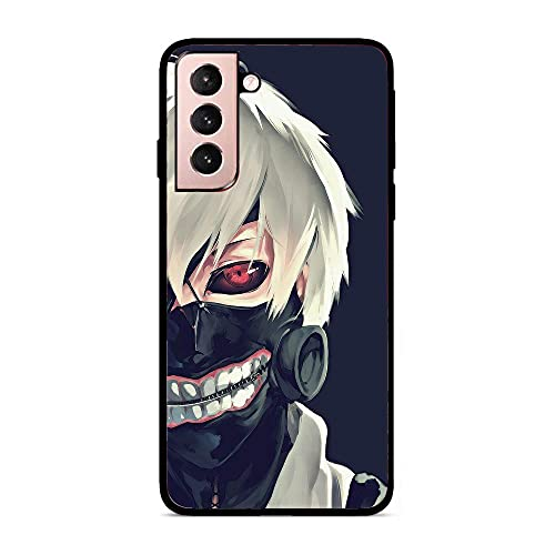 rongyixxzx Black Coque Case Matte Thin Flexible TPU Protective Cover for Samsung Galaxy S21+/S21 Plus-Japan Tokyo-Ghoul 1