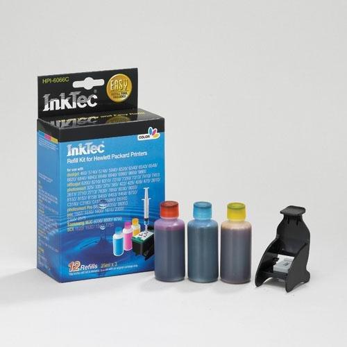 Nachfüllset für Druckerpatronen HP 342, 343und 344. 3Farben. 25ml x 3, Inktec