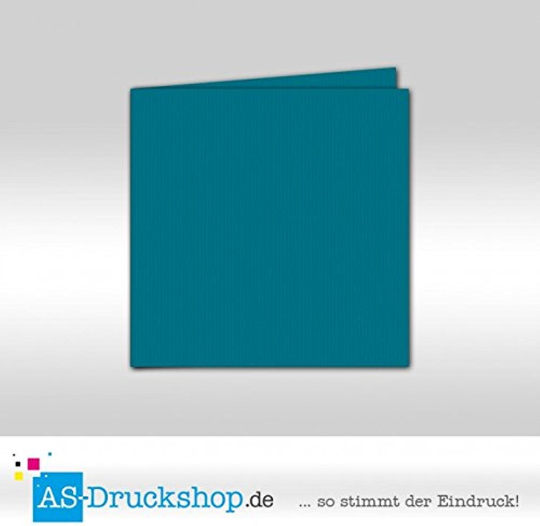 Faltkarte Faltkarte Faltkarte Doppelkarte - Petrol 100 Stück Quadratisch 155 x 155 mm B0794YZC9Y | Ausgezeichneter Wert  5b4fd1
