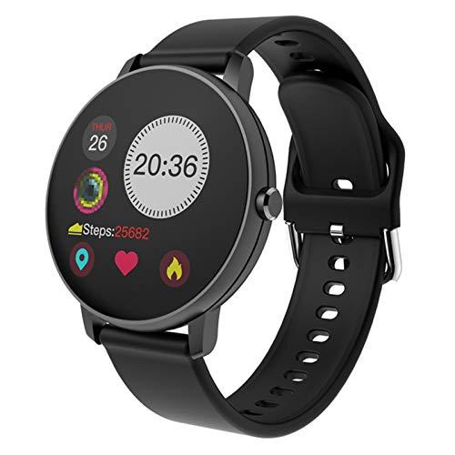 XXY Smart Watch Women Fit Drate Fitness Tracker Mujeres a Prueba De Agua Presión Arterial Monitor SmartWatch P8 para Android iOS PK I5 (Color : P8 Black)