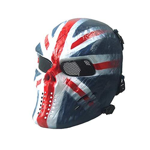 Metal Mesh Eye Gesichtsmaske BB Protect für taktische Airsoft Paintball Hockey Cosplay M06 britische @WorldShopping4U