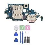 S21 + Plus Puerto de Carga USB Cable Flexible Reemplazo del Cargador USB Puerto Conector Cable Dock Board con Herramientas para Samsung S21 + Plus 5G G996B DS