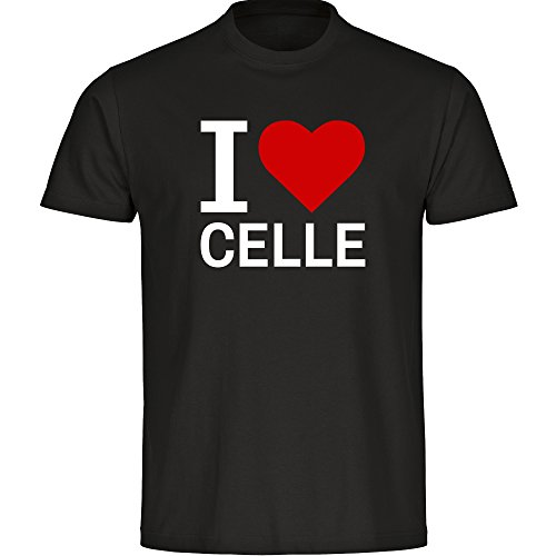 T-Shirt Classic I Love Celle schwarz Kinder Gr. 128 bis 176, Größe:176