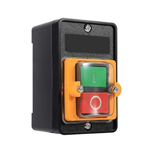 BOLORAMO Interruptor de botón, Interruptor a Prueba de Agua 10A 380V ON/Off para controlar su Motor Directamente