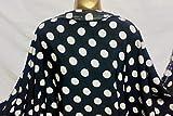 Cheapest Fabrics UK Weiß-Schwarz, M/Gewicht, Polyester,
