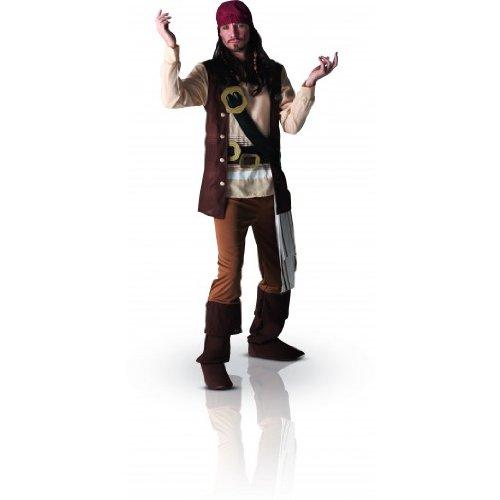 "Disfraz adulto pirata Jack Sparrow Disney XL (44-46"" Chest)"