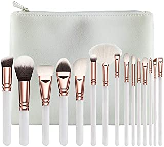 Leather Skin - 15pcs Pink Makeup Brushes Set Pincel Maquiagem Powder Eye Brush Kit Cosmetics Beauty