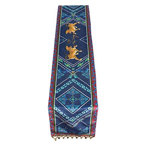 Mantel de tela con diseño de bandera china, estilo informal, 30 x 160 cm, MXJ61 (tamaño: 30 x 180 cm)