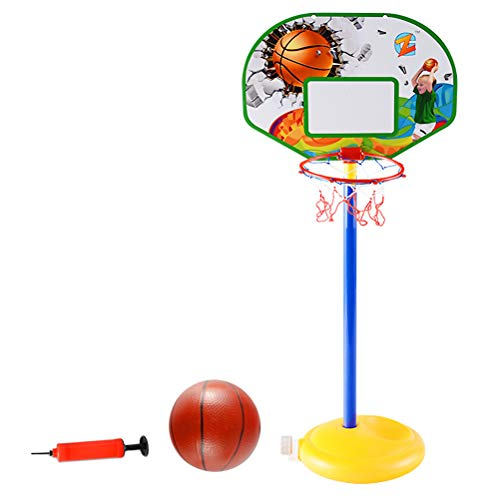 YeahiBaby Canasta de Baloncesto Ajustable con Inflador y Pelota ...