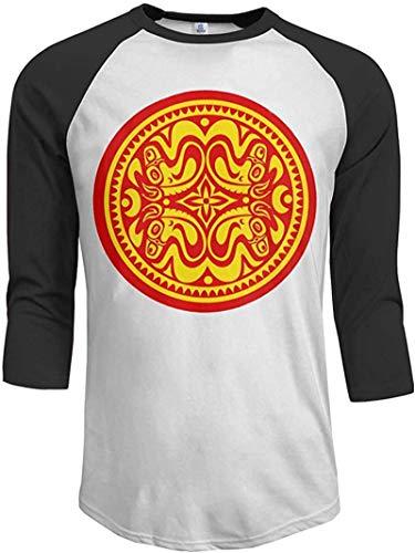 OMGAR Camiseta de béisbol de manga 3/4 de Gov't Mule con logotipo rojo y amarillo de hombre de manga 3/4 de raglán, ajuste regular, color block casual estampado blusas Tops