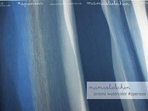Mamasliebchen Jersey-Stoff Prisma Watercolor #opensea (ca. 0,95m) Farbverlauf Wasserfarben aquarell Panel