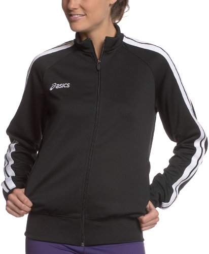 ASICS Women's Hurdle Track Running Jacket,Black,X-Large