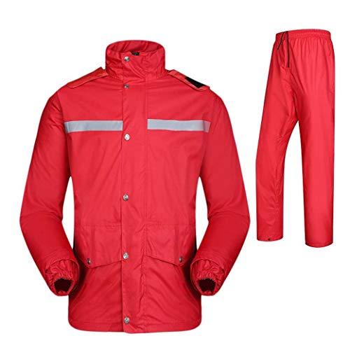 DongYuYuXuXi Raincoat regenbroekpak dikker dubbelwaterdicht motorfiets regenjas poncho grote vissen pak regenkleding mannen en vrouwen 4XL rood