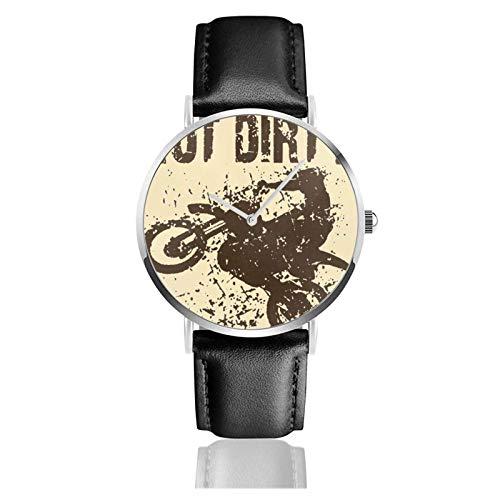 Reloj de Pulsera Uni-Corn Cute Dabbing Funny Dab Dance Durable PU Correa de Cuero Relojes de Negocios de Cuarzo Reloj de Pulsera Informal Unisex