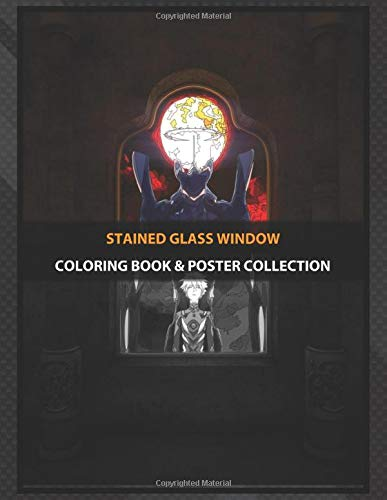 Coloring Book & Poster Collection: Stained Glass Window Eva Mark 06 Anime & Manga