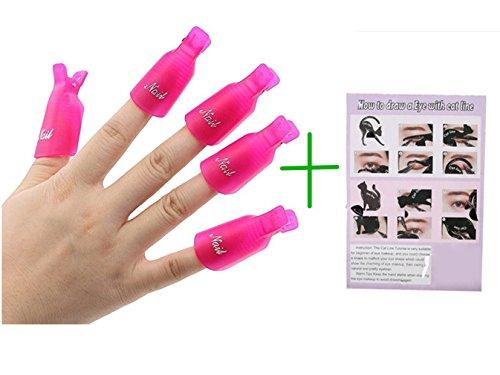 Xxwg, pinze in plastica per togliere nail art