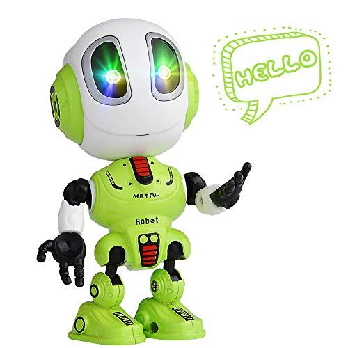COSANSYS kleine Intelligente Roboter Kinder Elektronisches Spielzeug Sprechender Mini Roboter mit Wiederholen Tonaufnahme Funktion blitzende Augen, Geschenk für 3-12 Jahre alt Kinder Jungen Mädchen