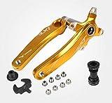 IXF Fahrrad-Kurbelsatz, Mountainbike-Kettenrad, 170 mm, 104 BCD mit Tretlager-Kit und Kettenblattschrauben für MTB, BMX, Rennrad, kompatibel mit Shimano, FSA, Gaint (Gold)