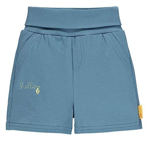 Steiff Shorts Pantalones Cortos, Color Azul, 12 Meses Bebé-Niños