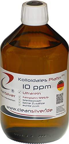 Kolloidales Platin 10ppm 500ml, ultrarein 99,99%, immer frisch hergestellt (pharm. Sterilwasser, Braunglas-Euromedizinflasche mit Originalitätsverschluss, keine Lagerware!)