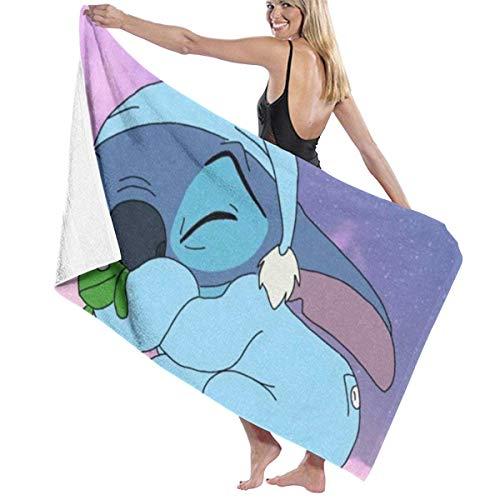 Suzanne Betty Lovely Stich - Toalla de playa (81,2 x 132 cm), para mujeres, niños, niñas, niños, adultos, hombres-Stich Sleeps2