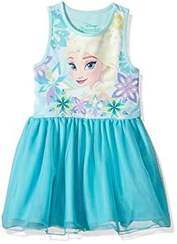 Disney Girls  Toddler Frozen Elsa Ruffle Dress Torq 3T
