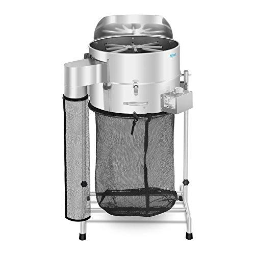 Hillvert Erntemaschine HT-HOWSON-18TE (Leistung: 120 W, Rotation bis 1.500 U/min, neigbar bis 180°, Durchmesser Behälter: 420 mm (18 Zoll), Material: Edelstahl)