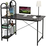 HOME BI Computer Desk with Shelves, Writing Desk for Home Office, Student Desk with 4 Tier...