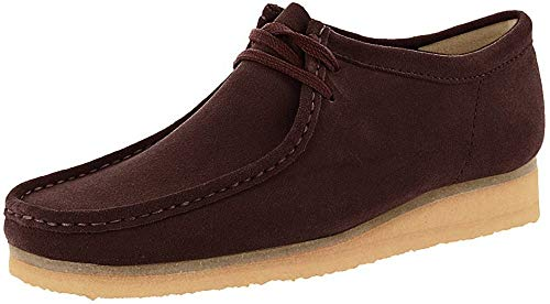 CLARKS Men's Wallabee Burgundy Suede 12 D US