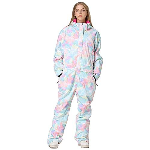 Women Ski Suits One Piece Jumpsuits Overalls Winter Outdoor Snow Suits Waterproof Snowboard Jacket (S, s2)