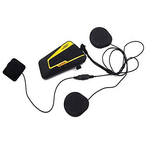 Intercomunicador Casco Moto, Bluetooth 3.0 Manos Libres Radio FM Impermeabilidad Gama Comunicación Intercom de 2000m Montar a Caballo y Esquí Auriculares Bluetooth para Motocicleta
