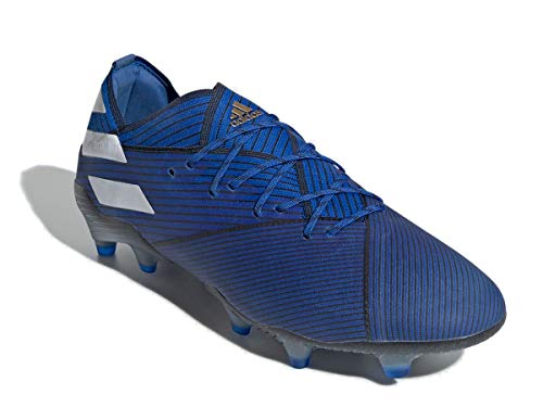 adidas Nemeziz 19.1 FG, Bota de fútbol, Football Blue-White-Core Black
