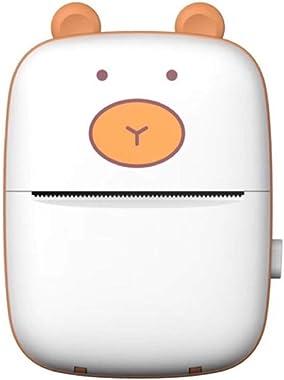 Badukongjian Mini Photo Printer, Wireless BT Thermal Printer, Portable Photo Image Label Photo Memo Printer