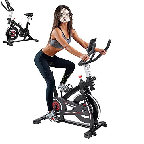 Cyclette Con trasmissione a cinghia silenziosa Spin bike Sensori palmari Cyclette diadora Per gli allenamenti in ufficio a casa