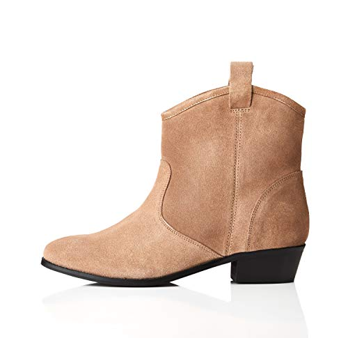 find. Pull On Leather Casual Western Stivali Chelsea, Marrone Sand), 38 EU