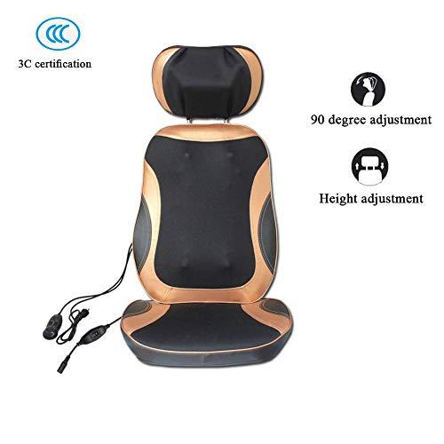 Rücken und Nacken-Massagegerät Shiatsu-Massagesessel mit Höhenverstellung for Sitzkissen Ganzkörper-Massage-Stuhl-Auflage for Full Back Pain Relief, elektrische Körpermassager- for Heim oder Büro-Stuh