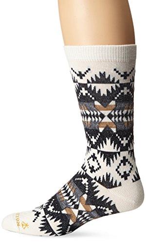 Pendleton Men's Spider Rock Crew Socks, Natural, Large(9-12)