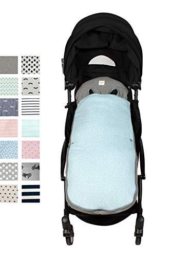 Fundas BCN ® - SC37 - Sacco per passeggino Babyzen Yoyo® e gemellari - Blue Safari.
