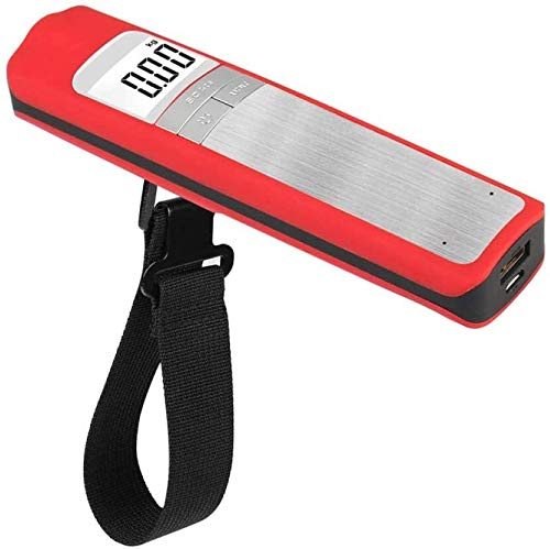 Luggage labels for suitcases Portable Luggage Scale,Air Baggage Scale Mini Portable Scale for Outdoor Travel,tourism,family Expenses,Supermarket,market, Red suitcase