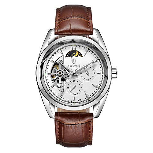 TEVISE 795a Business Style Men Hollow out Reloj de Pulsera mecánico Calendario de Pulsera...