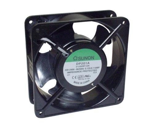 Sunon DP200A2123XBL - Ventilador (120 x 120 x 38 mm, CA 230 V, 2850 U/min, 45 dBA)