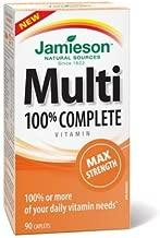 Jamieson 100% Complete Multivitamin Max Strength formula, 90 caps