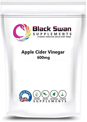 Apple Cider Vinegar 600mg Cap (Veg) - Enriched with Probiotics - Digestive Support - High Strength – Anti - Aging Properties - Rich Nutrition - Weight Loss - Healthier Skin (120 Caps)