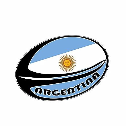 Calcomanías para automóviles Divertido deporte Rugby Decal Argentina Bandera Casco de motocicleta Pegatina de coche 1 4X9.1CM regalos para eventos