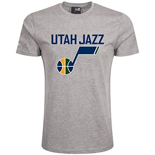 New Era Team Logo Utajaz Camiseta, Unisex Adulto, Gris (LGH), M