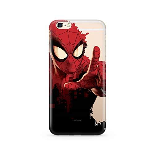 Estuche para iPhone 6 Plus Marvel Spider Man Original con Licencia Oficial, Carcasa, Funda, Estuche de Material sintético TPU-Silicona, Protege de Golpes y rayones