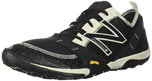 New Balance Men's Minimus 10 V1 Trail Running Shoe, Black/Moonbeam, 9.5 W US