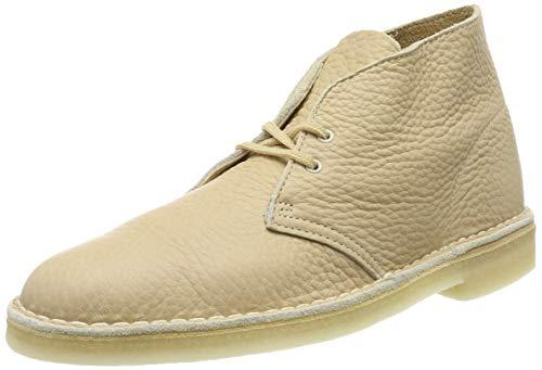 Clarks Herren Desert Boot Kurzschaft Klassische Stiefel, Weiß (Off White Lea Off White Lea), 42 EU